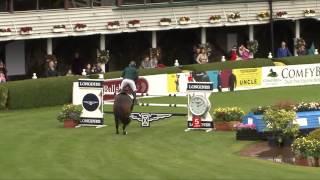 Download Video Trevor Breen  Georgie DAuvray Ec, 9 yr old gelding jumping 1m45 at CSIO5* at Dublin Horse Show MP3 3GP MP4