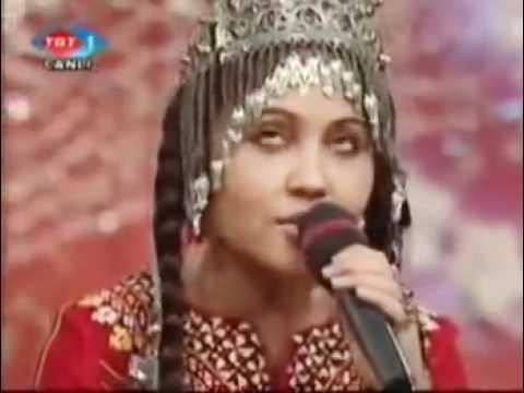 Türkmen Kizi ~~ Abadan Halmedova   Dön gel Birtanem   YouTube