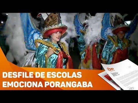 Desfile das escolas emociona Porangaba - TV SOROCABA/SBT
