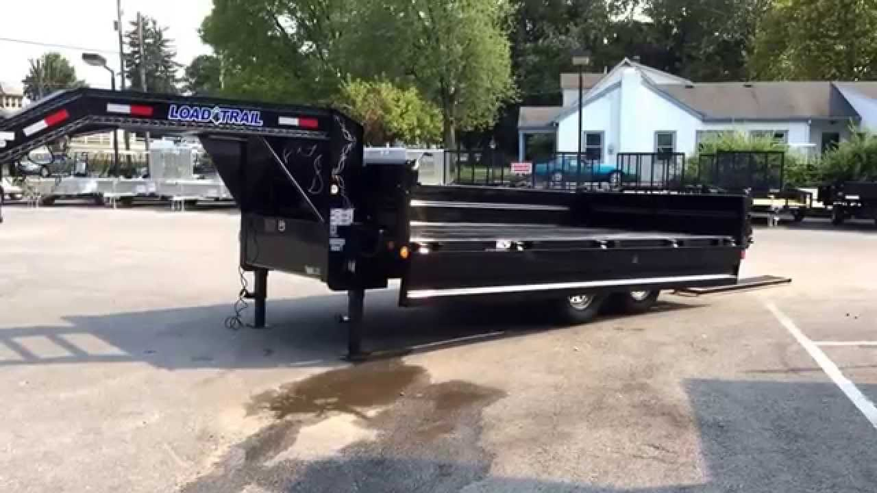Load Trail 8x16 Gooseneck Deckover Hydraulic Dump Trailer