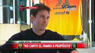بالفيديو.. ميسي: لا قيمة لترديد النشيد الوطنى للأرجنتين