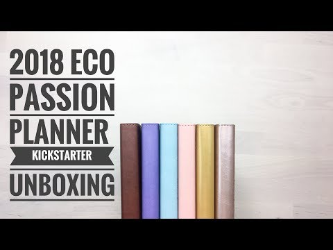 2018 Eco Passion Planner Kickstarter Unboxing