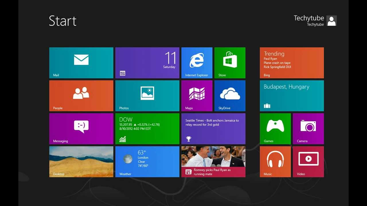 Windows 8 User Interface Overview - YouTube
