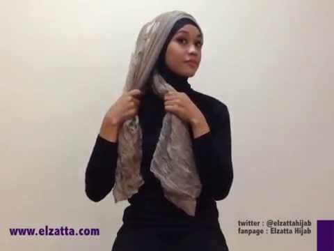Tutorial Hijab Elzatta Pashmina Youtube