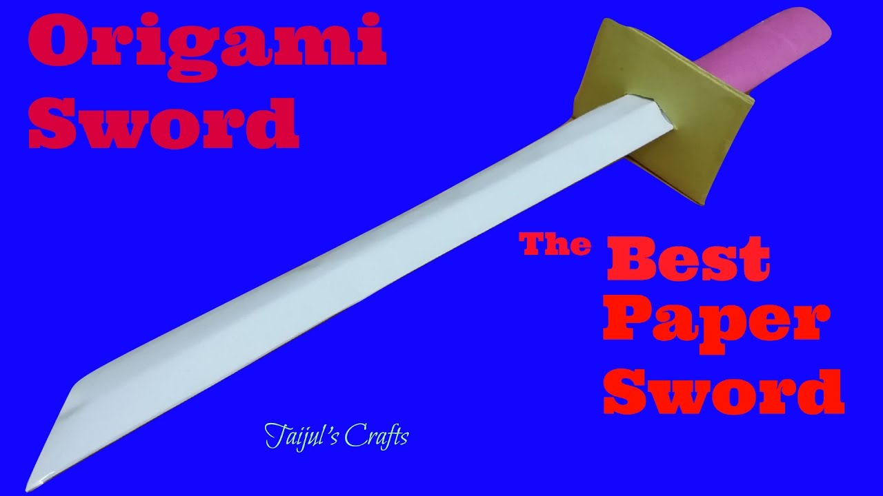 how to make a sword out of paper