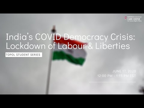 India's COVID Democracy Crisis: Lockdown of Labour and Liberties on YouTube