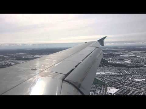 Landing at Ottawa International Airport Air Canada Airbus A319