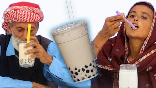 Tribal People Try Bubble Tea For The First Time