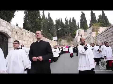 Palm Sunday Procession in Jerusalem 2017