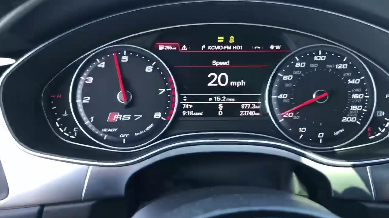 Audi Rs7 0 60 >> 2016 Audi RS7 0-60..STOCK - YouTube
