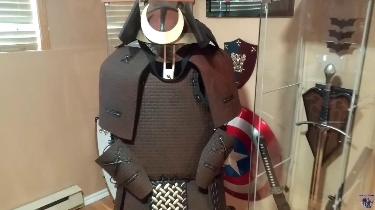 Showing My Samurai Armor Built With Eva Foam Youtube