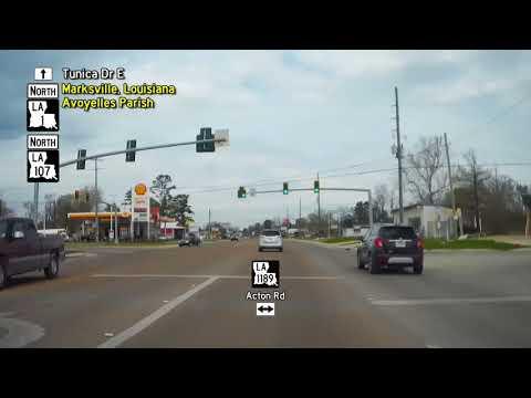 Coast to Corner - Louisiana Highway 1 North Drivelapse in 20 minutes