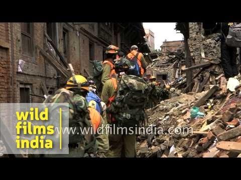Earthquake damage in the ancient city of Bhaktapur - Kathmandu