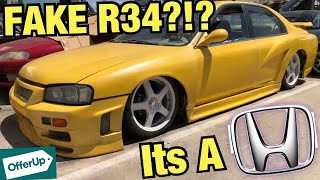 RICER Tries To Sell FAKE R34 GTR?!? - (Rice Or Nice Offerup)