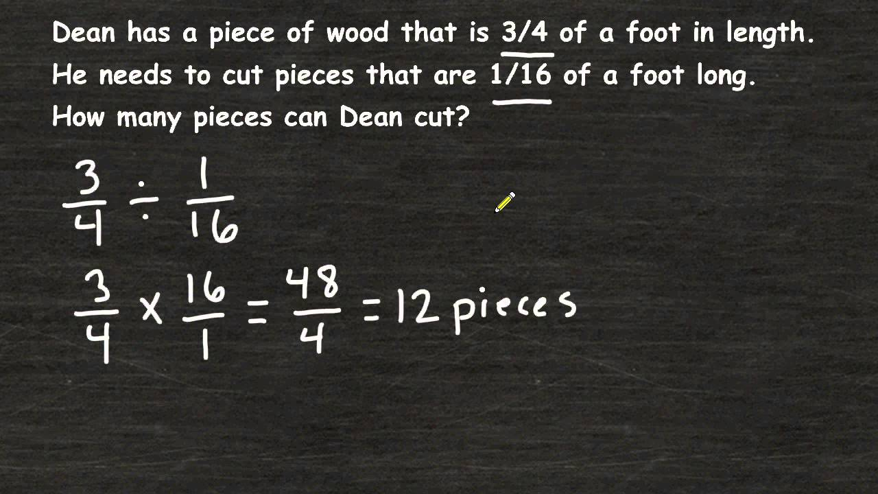 small resolution of Solving Fraction Word Problems - Fraction Division - YouTube