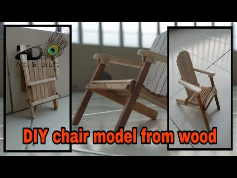 DIY chair model of wasted wooden piece | wooden craft