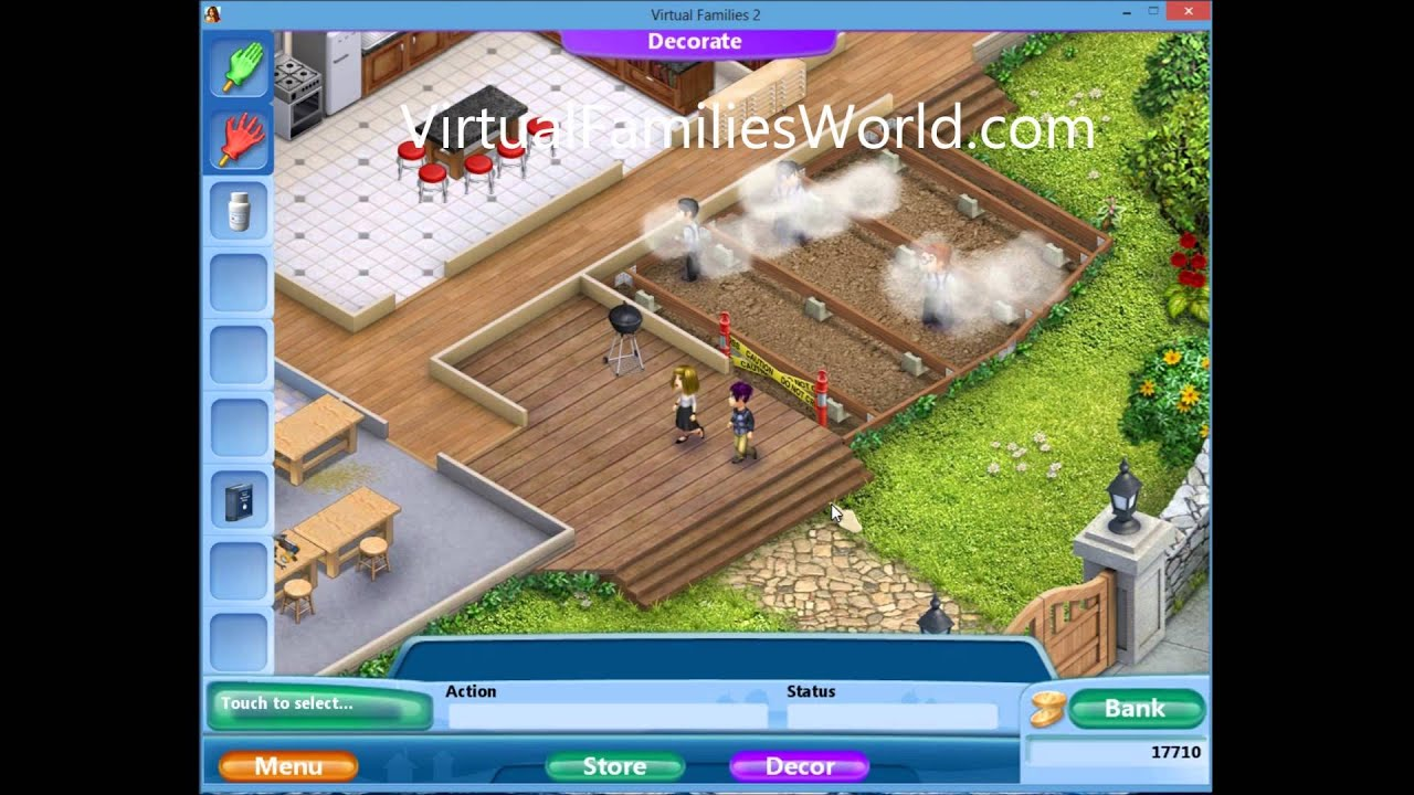 How to expand house front deck on virtual families 2 youtube for Virtual home walkthrough