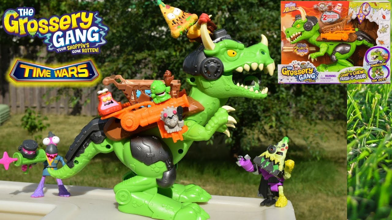The Grossery Gang Time Wars Chomp /'n/' Chew Trash-O-Saur