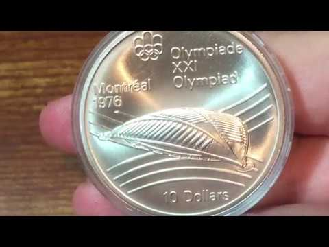 Canada 10 Dollars 1976 - Olympic Velodrome (Large Silver Coin Of The Week Oct 24 2017)