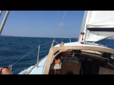 Sailing 12 to 14 knots of wind