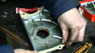 Замена сальника на передней крышке двигателя. Установка крышки на двигатель. Ваз классика.