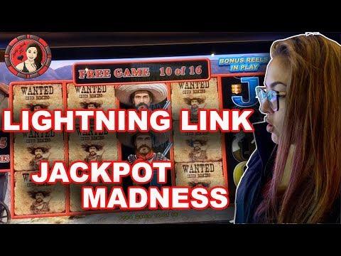 Lightning Link Tiki Fire JACKPOT Madness - Slot Machine Handpay in Las Vegas