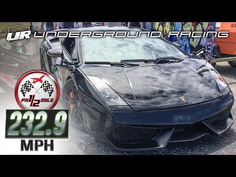 Underground Racing Lambo Wins Puerto Rico 1/2 Mile Three Times in a Row