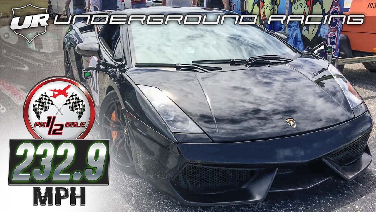 Underground Racing Lambo Wins Puerto Rico 1 2 Mile Three Times In A
