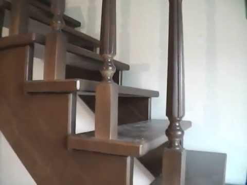 Монтаж лестницы из дуба с подсветкой ступеней (полная версия .