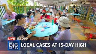 Local Covid-19 cases at 15-day high as S'pore eases dining restrictions | THE BIG STORY