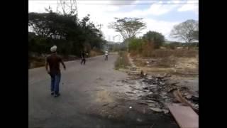 Guarimbas el 20F en Cabudare, Lara Venezuela