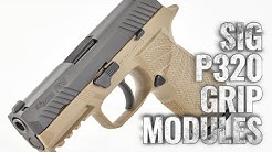 How to change the grip module on a Sig P320