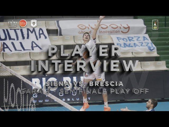 POSTMATCH GARA 3 SIENA VS BRESCIA - INTERVISTA A YURI ROMANÒ