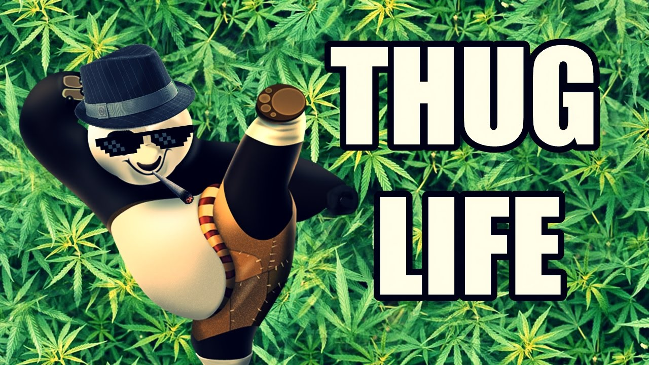 Thug Life Panda Strawberry Youtube