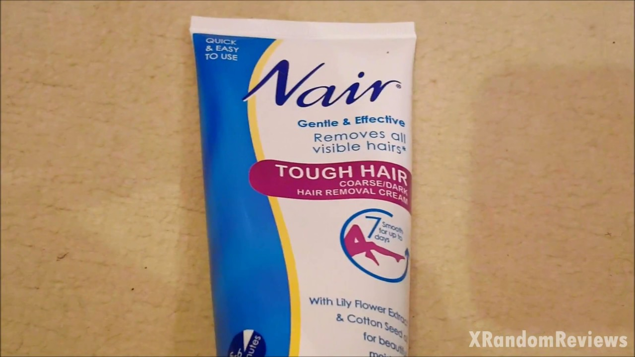 Nair Leg Hair Removal Cream Demo Review Youtube