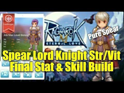 Ragnarok Eternal Love Pure Spear Lord Knight Str/Vit Final Stat & Skill Build Equipment