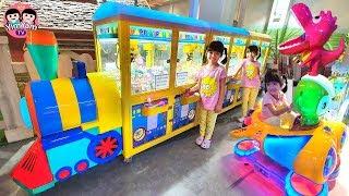 หนูยิ้มหนูแย้ม   เล่นตู้เกมคีบตุ๊กตา เที่ยวสวนสนุก เมกาฮาร์เบอร์แลนด์