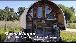 Woman's Self-built/designed Sheep Wagon Home  Tiny House