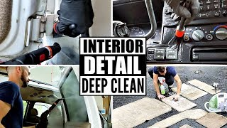 Complete Disaster Full Interior Car Detailing || Deep Cleaning Car Interior