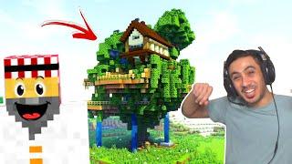 ماين كرافت #15 | اكتشاف قرية الأشجار !