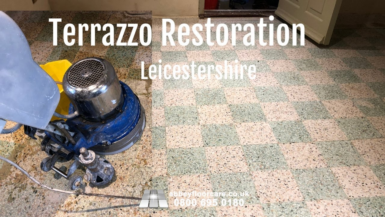 Terrazzo Restoration Leicester Le7 Abbey Floor Care Youtube