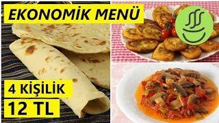 EKONOMİK MENÜ  - 12 TL - Patates Köftesi - Mantar Sote - Lavaş Tarifi
