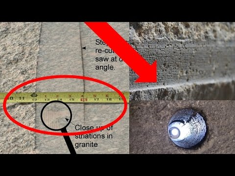 Egyptian Pyramid Machine Cuts 2017 Update - Lost Ancient High Technology - Textbooks Debunked