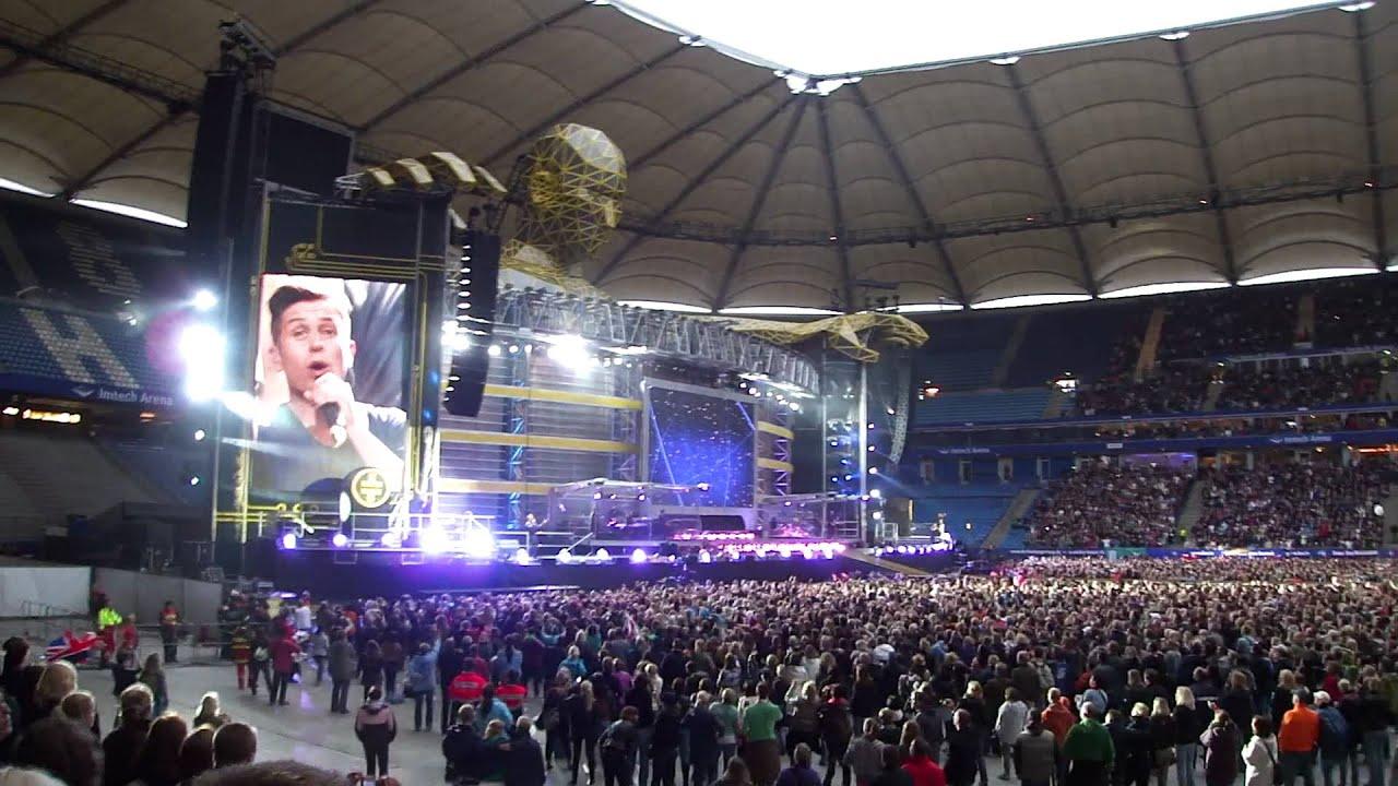 take that progress live tour 2011 hamburg intro ii rule the world