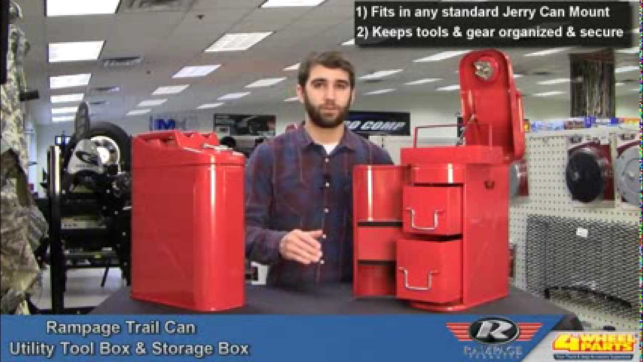 Rampage Trail Can Toolbox Amp Storage Can Youtube