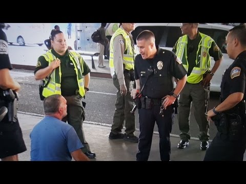 LAX security officers the first line of defense Fighting over a parking space Part 1