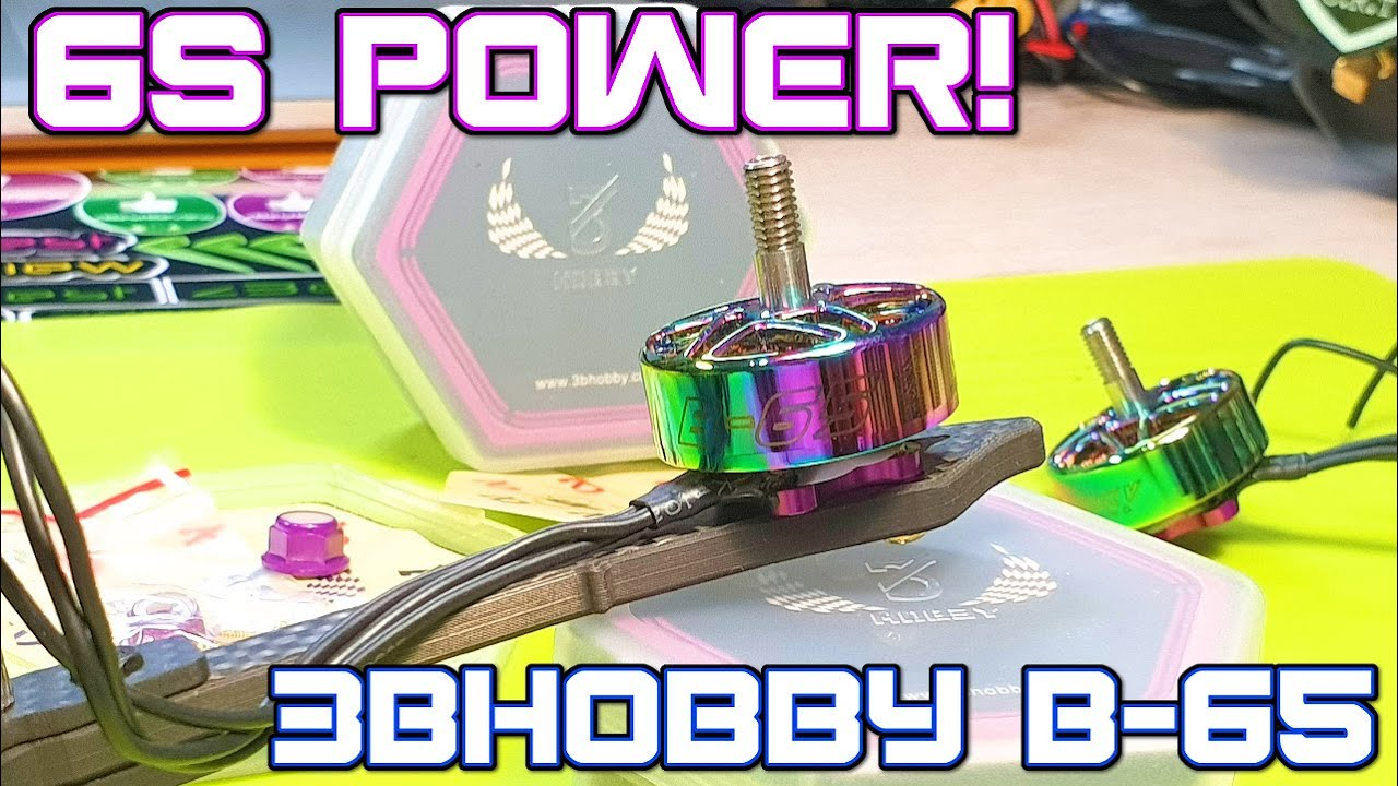 ✅ Современные 2020 Моторы 3Bhobby B-65 2306.5 1900KV под 6S!  Жесткая Тяга для ФПВ Дрона 🔥