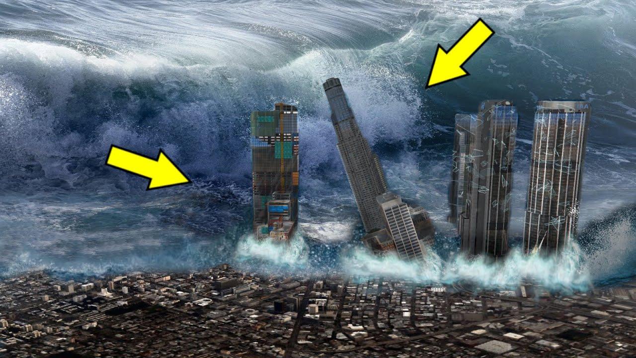 GTA 5 Tsunami Scene (Short Movie) GTA V Biggest Tsunami Mod