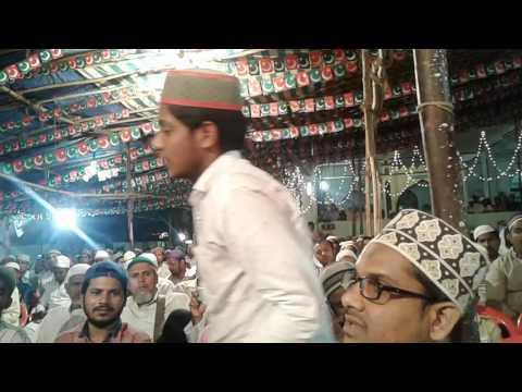 World best naat kwan Qari rizwan khan At Ghansoli, Mumbai iztama 2017 ##Sunni dawate islami##