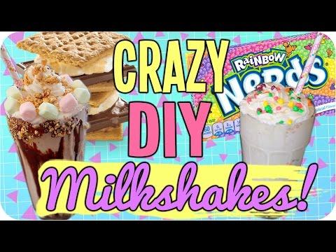 DIY Crazy Milkshakes! Easy & Delicious!